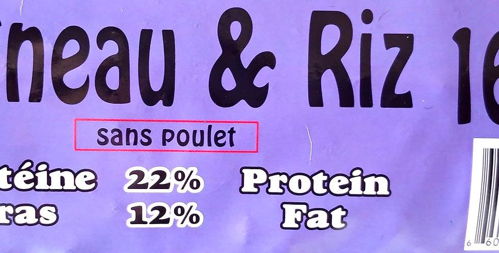 Moulées Gagnon - Chien agneau et riz 16Kg