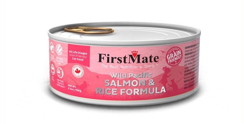 FirstMate - Conserve au saumon pour chats et chatons 156g/5.5onz