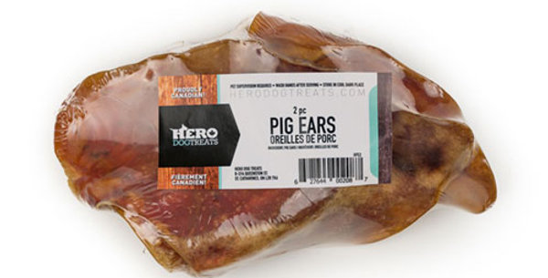 Hero Dog Treats - Oreilles de Porc déshydratées 2 morceaux