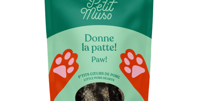 Petit Muso - P'tits Coeurs de Porc pour chien 80g