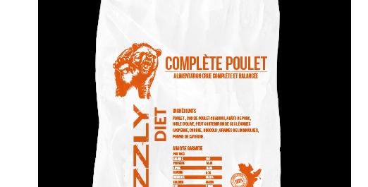 FORFAIT 14 sacs Grizzly Formule Poulet 25lbs (31.74/sacs)