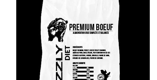 FORFAIT Grizzly - 5 SACS Formule Boeuf Premium au boeuf et au poulet 25lbs(42.99