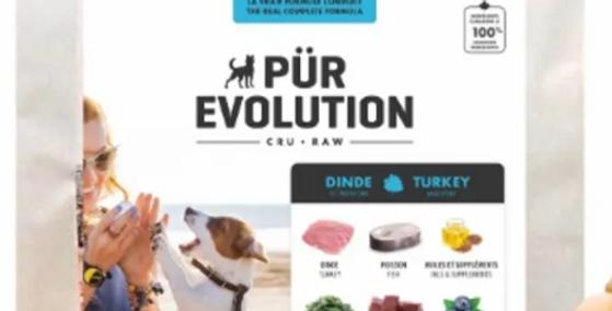 Pür Évolution - Formule pour chien à la dinde et au poisson 22lbs