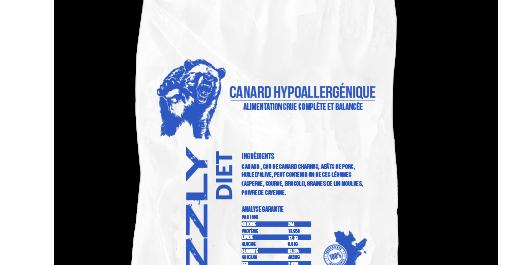 Grizzly - Formule au canard 25lbs