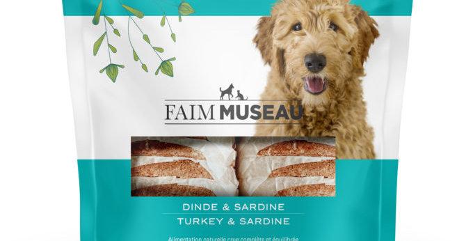 Faim Museau - Dinde et sardine pour chien 6lbs
