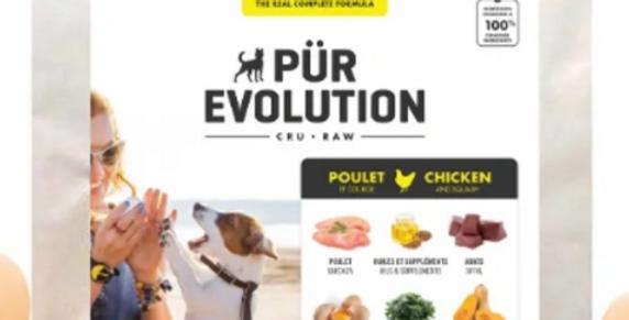 Pür Évolution - Formule pour chien au poulet et à la courge 8,8lbs