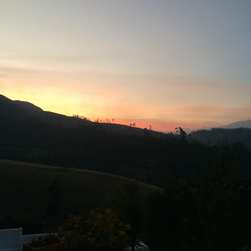Sunset near Otavalo