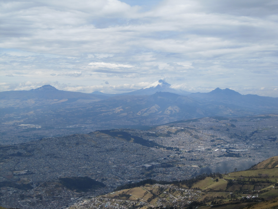 Quito and its volcano, Cotopaxi