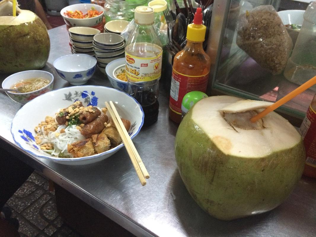 Delicious meal at a Saigon market