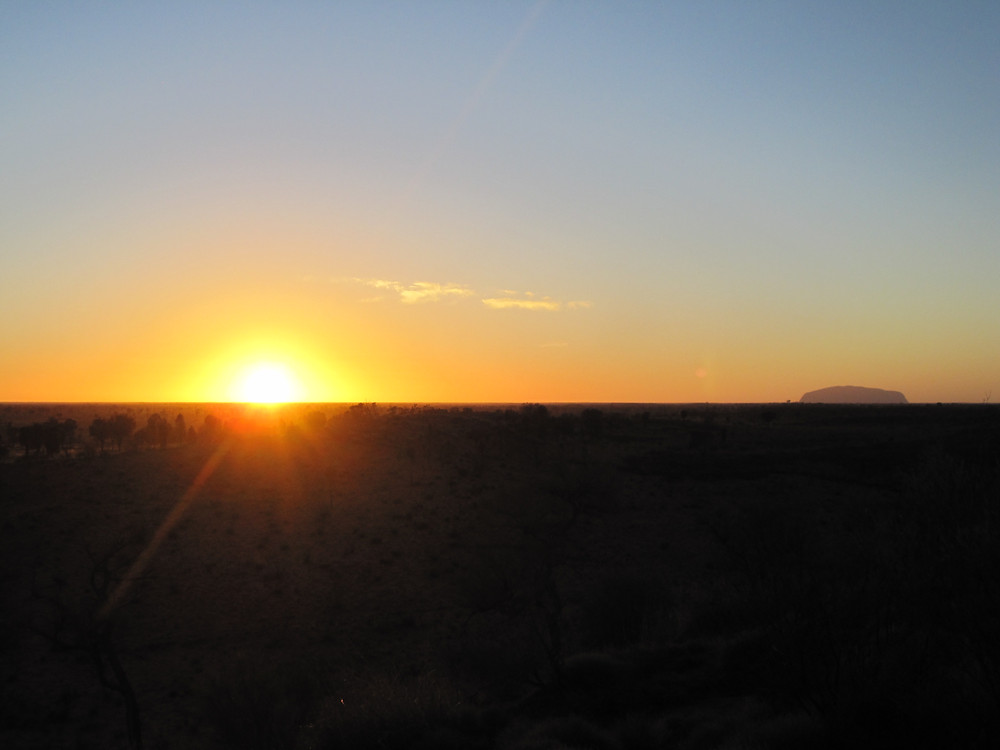New year, new possibilities: Sunrise over Uluru, Australia