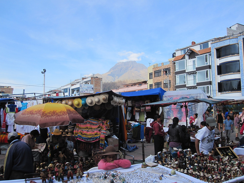 Just the place for souvenir shopping: the Saturday market in Otavalo, Ecuador