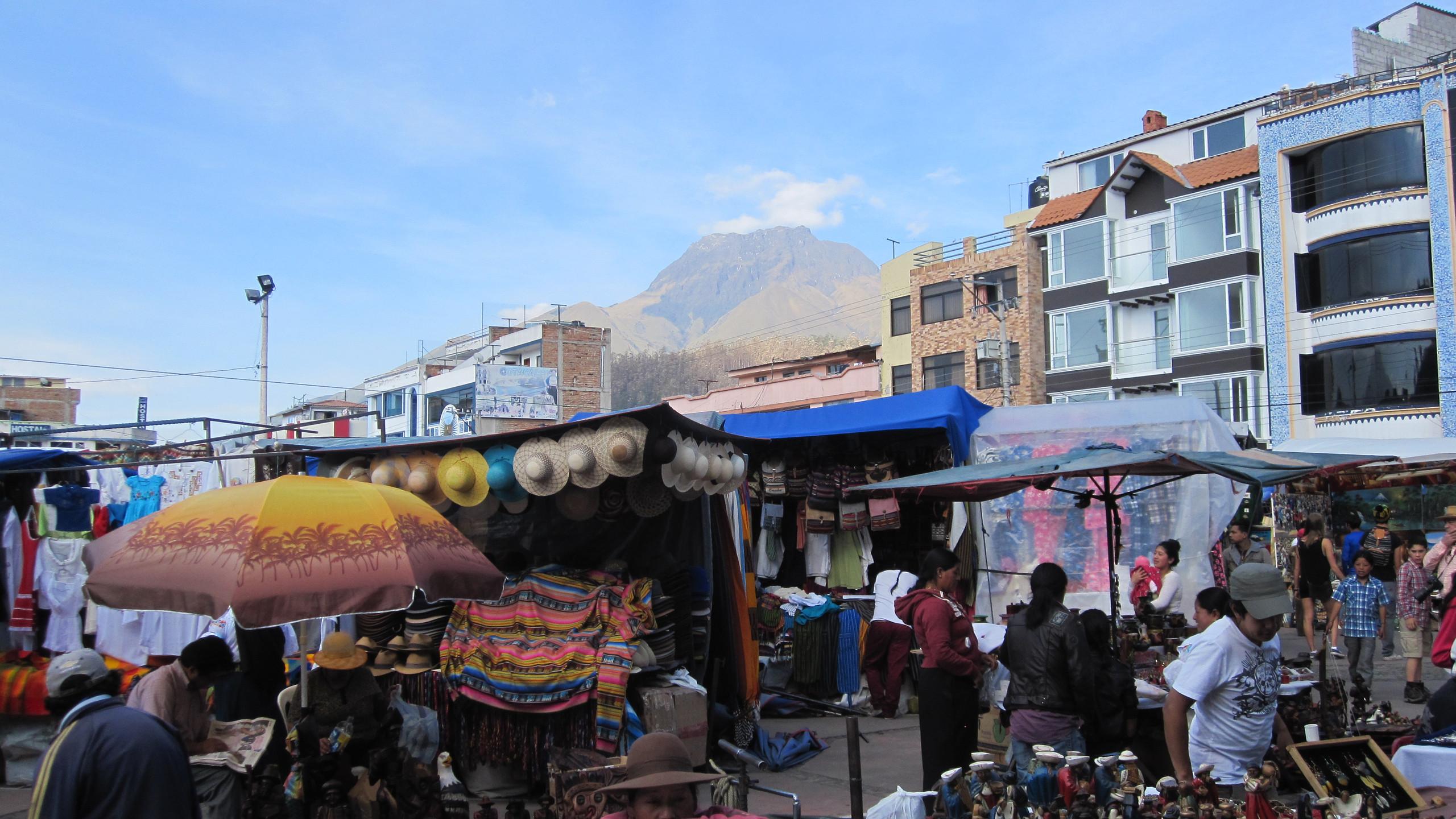 Otavalo's famous Saturday market