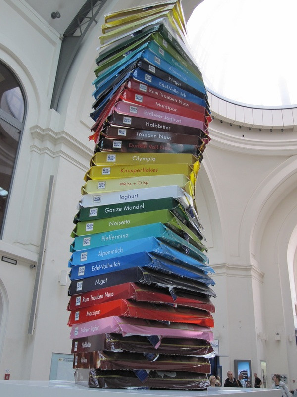 This tower of chocolate in Germany is my kind of art.