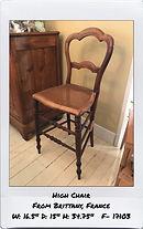louis philippe antique high chair