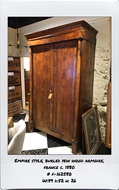 YEW WOOD ARMOIRE EMPIRE