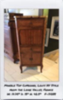 marble top narrown cupboard