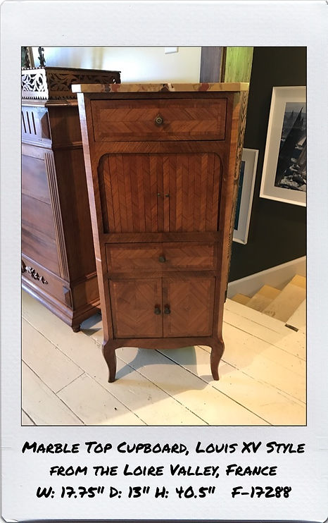 marble top narrown cupboard
