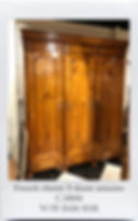 ARMOIRE FRENCH 3 DOORS