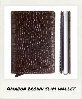 BROWN SECRID WALLET