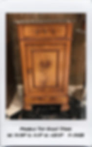 French marble top night stand