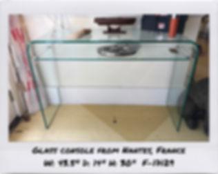 glass console