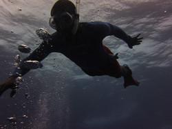 Jaedon Lawe free diving