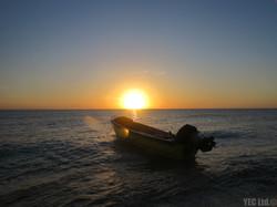 Brillant Sunset on Bird Cay