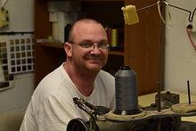 Everett, upholsterer at C & S Refinishing and Upholstery