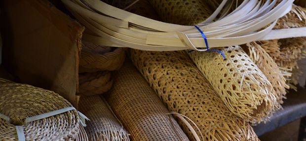 Examples of Caning Materials at C & S Refinishing and Upholstery