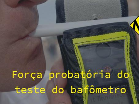 Fazer o teste do bafômetro é ou não produzir prova contra si mesmo?