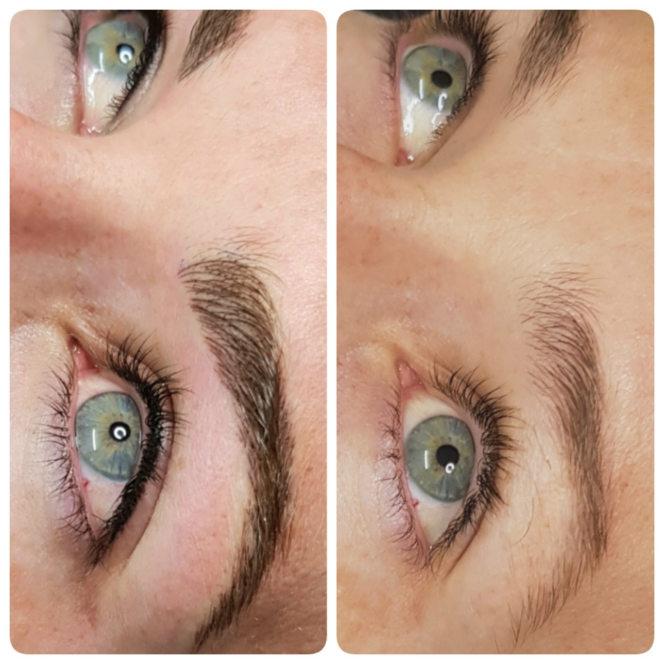 Before & After Top Eyeline & Feathered Brows