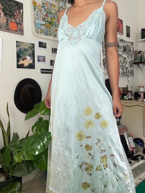 Blue Ecoprint Dress
