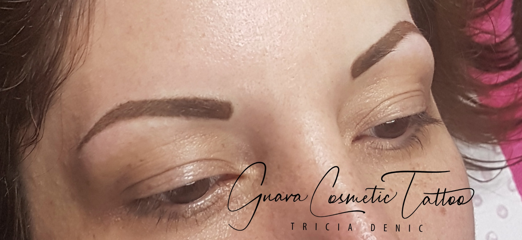 Powder brows immediately after.