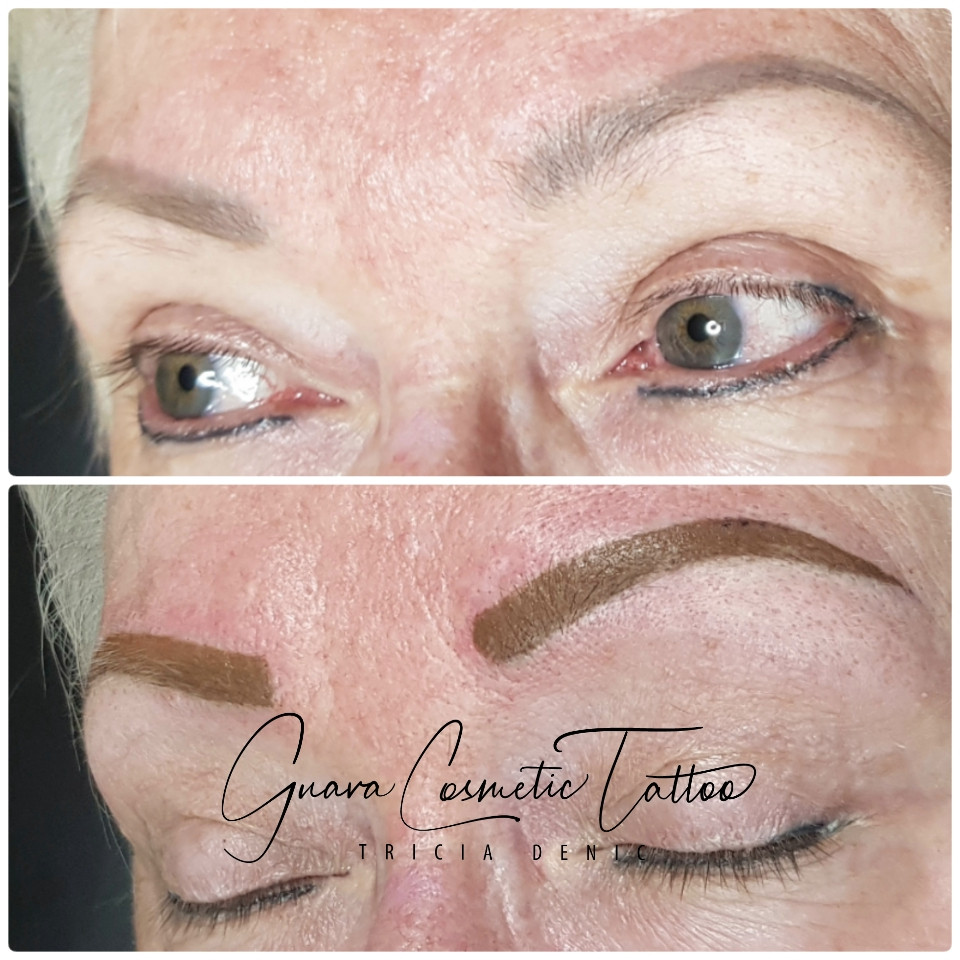 Before & After brow boost.