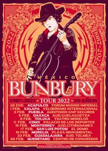 BUNBURY 1987 - 2022 TOUR 35 AÑOS