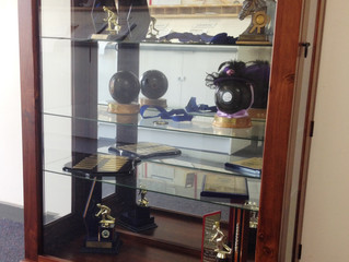 New Club Trophy Cabinet on show at the Club.