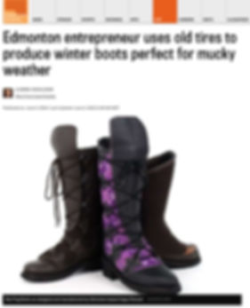 Edmonton Journal Article on Red Frog Boots, June 2016