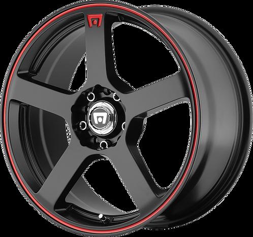 Rin 18x8 Motegi MR116 Negro con rojo