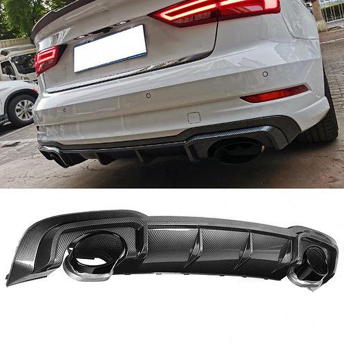 Difusor Audi S3 Negro 2013-2018
