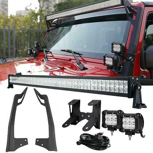 Barra Led con brackets Jeep JL 19-21