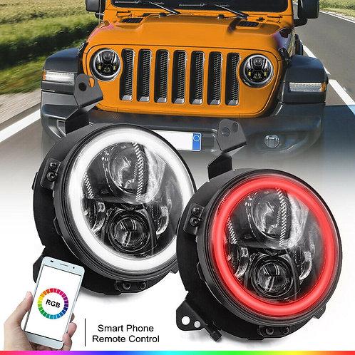 Faros Led con colores Jeep Gladiador 20-21