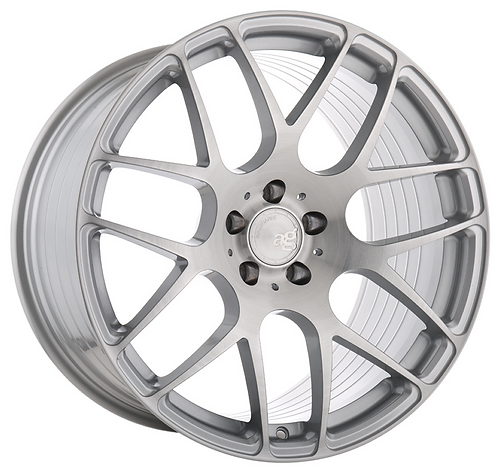 20x10 Avant Garde M610 Brushed Face Liquid Silver (Rotary Forged)