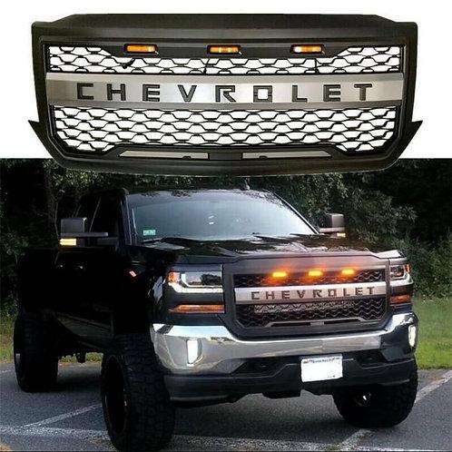 Parrilla Offroad Chevrolet Negra