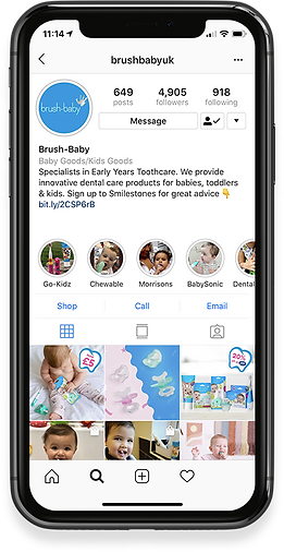 Brush-baby Instagram Social Media Marketing