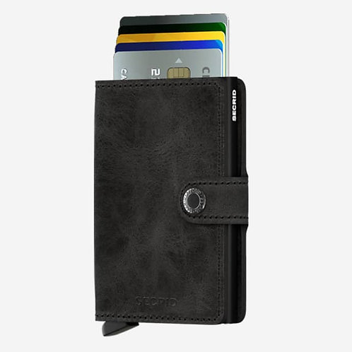 Mini Wallet- Vintage Black