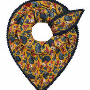 Floating Florals Ochre Scarf