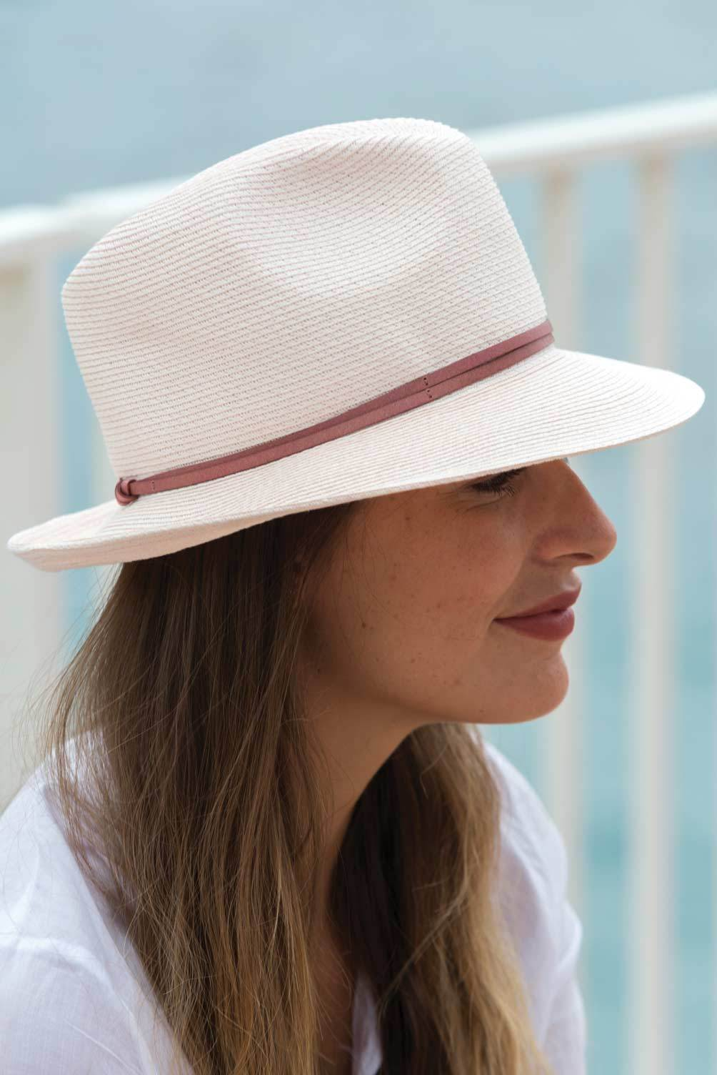 Borsalino Hat - Powder Pink