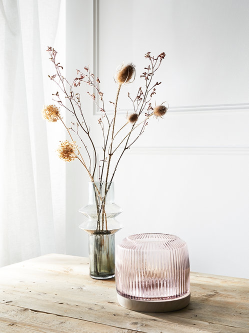 Pleat Vase-  Rose (L)
