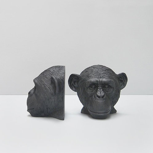 Monkey Bookends-Black