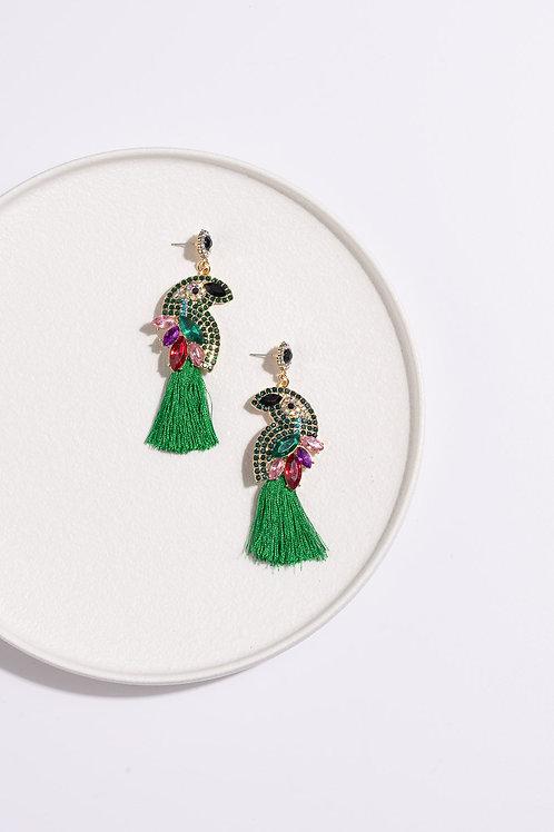 MOSK Green Parrot Earring